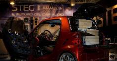 奔驰smart疯狂全车意大利史泰格STEG汽车音响改装案例